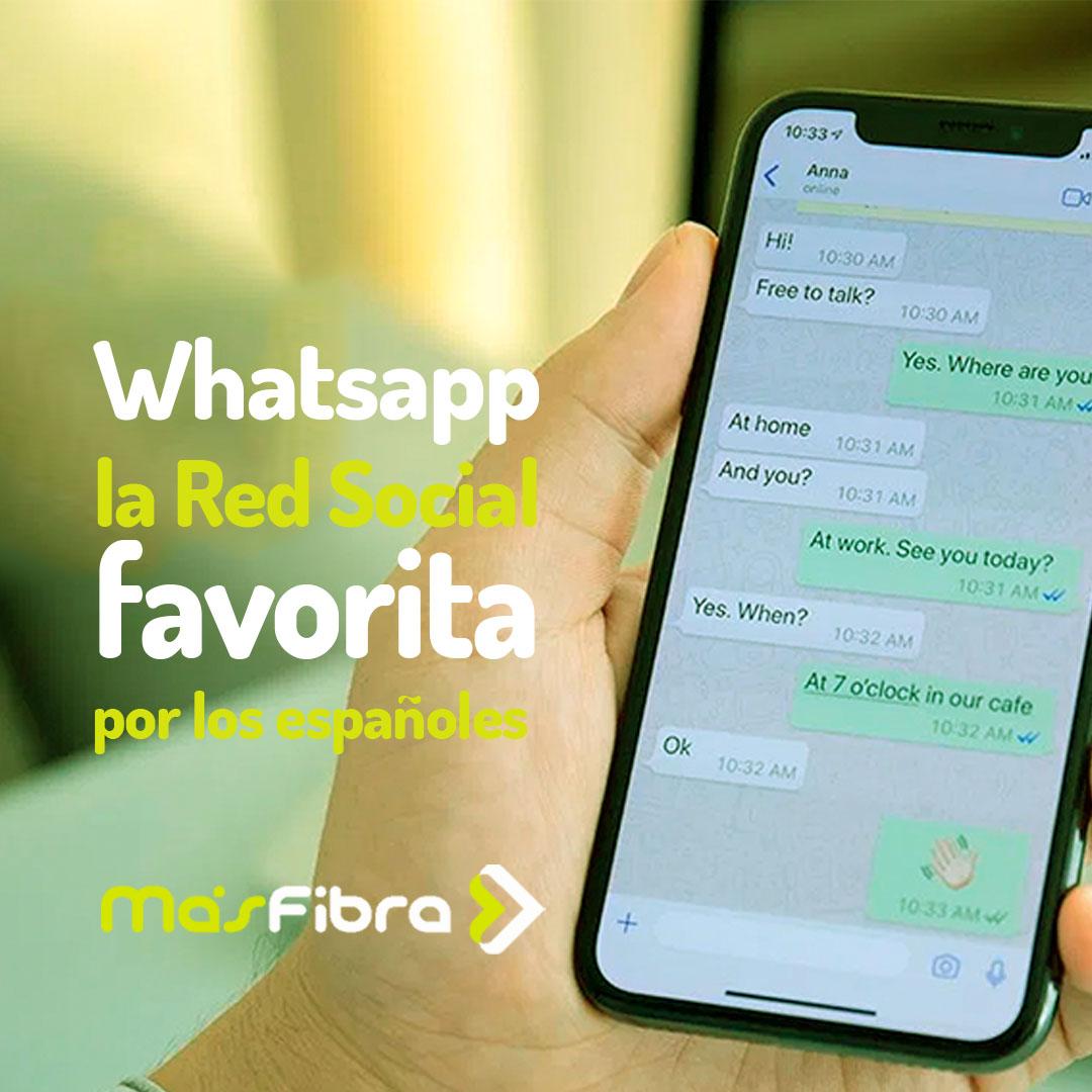 WhatsApp sigue siendo la red social favorita en España