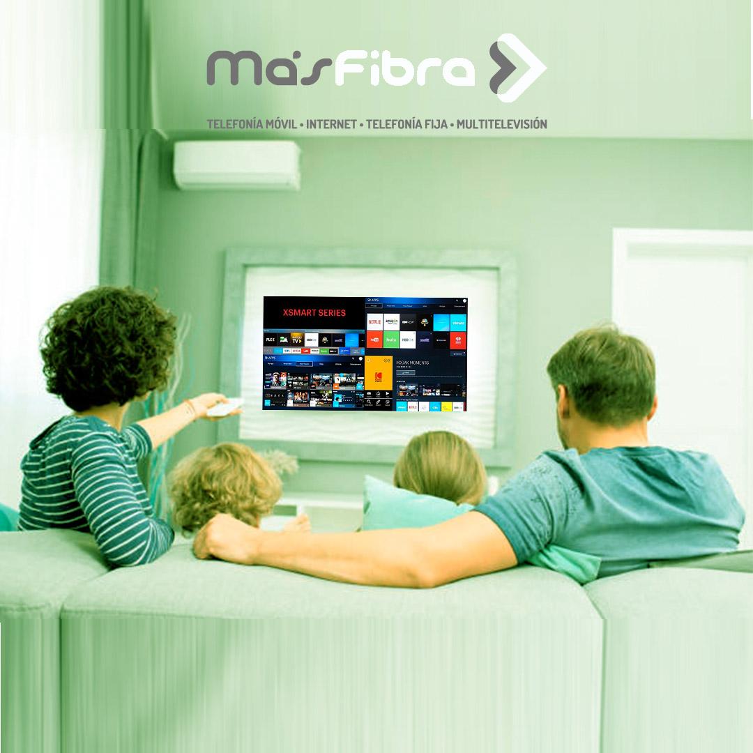 ¡Con la fibra óptica de MásFibra ya puedes ver sin cortes las plataformas en streaming!
